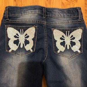 Vigoss Blue Jeans Butterflies